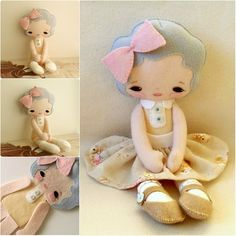 adorable felt doll