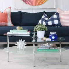 Wrought Studio Cate Glass Oval Coffee Table