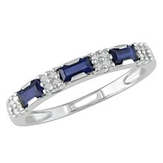 White Gold Accent Diamond and Sapphire Eternity Ring Cttw, G-H Color, Clarity) - deal deal Sapphire Eternity Ring, Sapphire And Diamond Band, Blue Sapphire, Sapphire Rings, White Gold Diamonds, Round Diamonds, All I Ever Wanted, Gold Accents, Wedding Rings