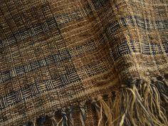 Work at 2006/hand spun nettle, wild silk yarn dyed with onion skin, Ryukyu-indigo(Strobilanthes cusia)