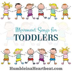 Don\'t miss these 10 fun movement songs for toddlers you can find on YouTube! They are great for a dance party or getting the wiggles out!