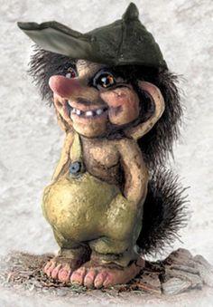 840019 Troll boy with cap - Troll shop - Norwegian trolls from Shop Norway @ Norway.com