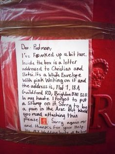 This appeal to the postie's kind side. | 38 Wonderful Things That Could Only Happen In Britain