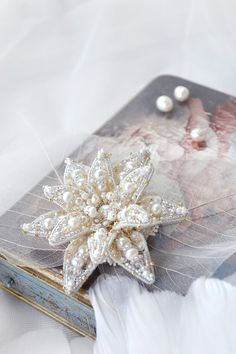 Water Lily jewelry Exclusive Bridal wedding by PurePearlBoutique