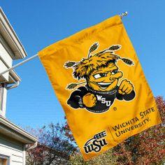 Amazon.com: Wichita State University Shockers House Flag: Sports & Outdoors
