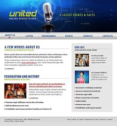United Radio Website Templates by Maxwell