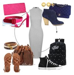 """""""One dress, four ways"""" by tinkletonk on Polyvore featuring Topshop, Chanel, Sole Society, Pori, Vans, Converse, Diane Von Furstenberg, Billabong, Chico's and Charlotte Russe"""