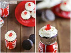 Receta de cupcakes de Coca Cola. Receta con fotografías del paso a paso y sugerencias de presentación. Trucos y consejos de elaboración....