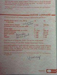 Quiche Lorraine from Company's Coming cookbook.