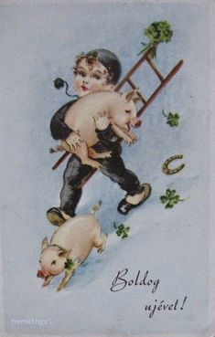 Nosztalgiázz retró újévi képeslapokkal! | Magyarország kúl Hello January, Christmas Cards, Christmas Decorations, Old Ads, Victorian Christmas, Vintage Cards, Old Pictures, Happy New Year, Holidays
