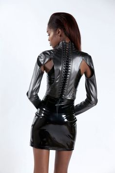 Leather Pants Outfit, Leather Outfits, Vinyl Skirting, Vinyl Clothing, High Leather Boots, High Boots, Latex Dress, Lace Corset, Sexy Outfits