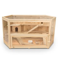 Give little critters a home to squeal about with the selection of this ALEKO Fir Hamster Cage. Ideal for burrowing, eating and restroom activity. Cage Hamster, Gerbil Cages, Hedgehog Cage, Diy Guinea Pig Cage, Guinea Pigs, Hamster Stuff, Hamster Tank, Hamster Life, Hamster Ideas