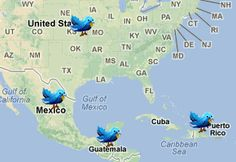 Tworldy: Twitter trends on a map.
