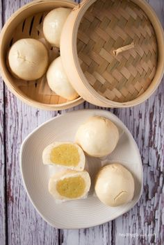 Gluten Free Chinese Steamed Custard Buns
