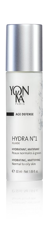 HYDRA N°1 Fluide | (HYDRATING) Enjoy deep, long-lasting hydration with this quickly absorbed fluid that has supreme age prevention benefits. Enriched with the super-humectant hyaluronic acid, its light texture makes it perfect for normal to oily skin types. It hydrates skin to its deepest layers, leaving it mattified and comfortable and preventing visible signs of aging caused by dehydration. #skincare #beauty #aging #hydration