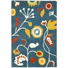 Soho Dark Blue/Multi 2 ft. x 3 ft. Area Rug
