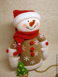 Christmas Crafts Felt Christmas Clay, Christmas Sewing, Christmas Snowman, Christmas Projects, Christmas Ornaments, Snowman Crafts, Felt Crafts, Decor Crafts, Diy And Crafts