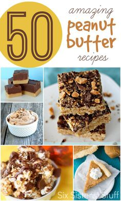 50 Amazing Peanut Butter Recipes from SixSistersStuff.com.  You'll never need to look for another peanut butter recipe again! #recipes #sixsistersstuff #peanutbutter #dessert