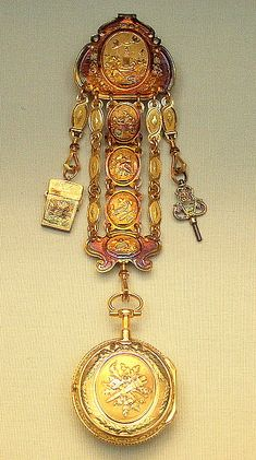 Chatelaine and watch British Museum Coloured gold and silver French Paris 1775-76
