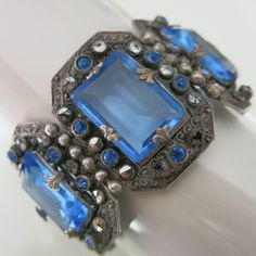 This looks like something that Nicoli gave to Annelise...(in one of the later backstory movies) Art Deco Czech glass & marcasite bracelet.