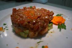 Tartar de atún con caviar de salmón