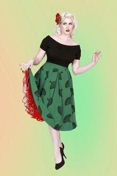 Fanny Skirt Green | Bettie Page Clothing  Just Bought this in SF the other day but in Grey and Black!!!!