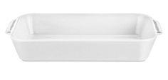 Stegefad fra Pillivuyt i porcelæn. Dette er et stærkt og holdbart fad, som er modstandsdygtigt overfor stød og slag, og tåler store temperatureforskelle. Fadet er egnet til ovn, mikroovn, fryser og opvaskemaskine.   Str: 37 cm. x 21 cm. fra - 30º til + 350º