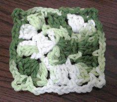 01 Motivo quadrado de croché #grannysquare #crochet