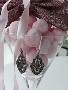 Pink candy, shimmering butterfly and dazzling PANDORA earrings #perfect #celebration #PANDORAloves
