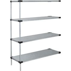 "Quantum Storage Systems AD74-1860SG Add-On Kit for 74"" High 4-Tier Wire Shelving Unit, 18"" Width x 60"" Length x 74"" Height by Quantum. $459.99. Genuine Quantum modular wire systems offer a unique combination of shelf and post sizes in a variety of finishes to compliment any application. The split sleeve and grooved numbered posts allow for easy and quick assembly. The all welded shelf construction is supported with architectural wire trusses to provide between ..."
