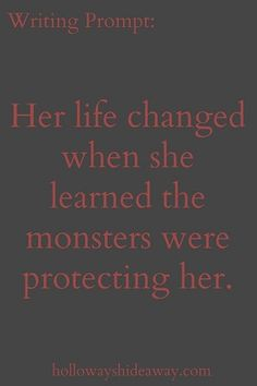 A character the monsters are actually protecting. Why? Were they told to by someone? Is there some prophecy that says she will someday serve them? Is what's after her so much darker than them that they feel obligated to protect her? Or did she do something in the past, whether great kindness or a lack of fear, that endeared them all to her?