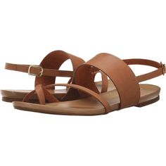 Chinese Laundry Marley (Cognac) Women's Sandals ($36) ❤ liked on Polyvore featuring shoes, sandals, tan, chinese laundry, tan sandals, cognac sandals, cognac shoes and ankle wrap shoes