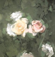 Roses oil painting Flowers Original painting Oil on canvas Handmade artwork Classic art 23 x 13 in Gallery Quality One of a Kind