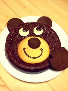 Gâteau au chocolat (^ o ^) / Gâteau Mogu-Ours par kicchh . Sweets Recipes, Cake Recipes, Hedgehog Cake, Cake Decorating Techniques, Kids Meals, Bakery, Food And Drink, Snacks, Pasta