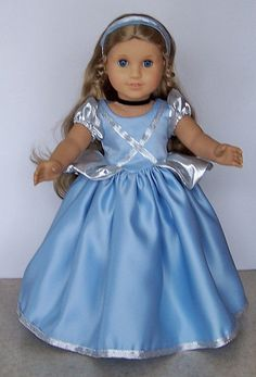 American Girl Doll Clothes - Cinderella Gown With Accessories and Shoes. $30.00, via Etsy.