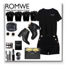 """""""Romwe Contest"""" by simona-altobelli ❤ liked on Polyvore featuring Hervé Gambs, Boutique Moschino, Paul Andrew, ABS by Allen Schwartz, Kate Spade, Fendi, Bobbi Brown Cosmetics and Chanel"""