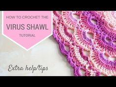 CROCHET: Virus shawl extra help | Bella Coco - YouTube