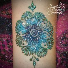 glitter mandala henna www.jamilahhennacreations.com