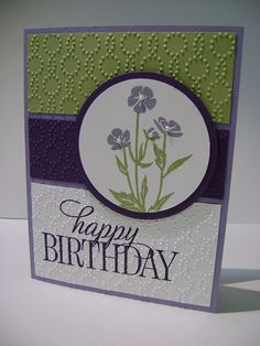 Wild About Flowers stamp set, Happy Birthday Everyone stamp set, Elegant Dots embossing folder