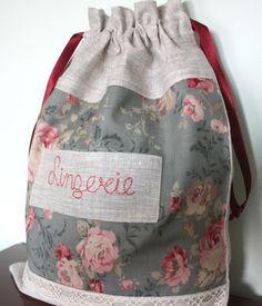 Lingerie - Bolsita de tela, Bolsos y carteras, Bolsas para el bebé, Bolsos y carteras, Bolsas, Hogar, Decoración