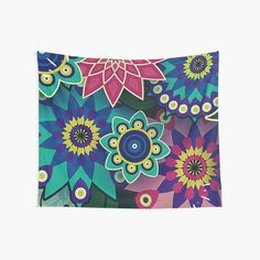 Wild Flower Power Psychedelic Fantasy Print  Wall Tapestry  #wall #tapestry #tapestries #flower #power #wild #colorful #rainbow #print #pattern Tapestry Wall Hanging, Wall Hangings, Rainbow Print, Cool Walls, Tapestries, Psychedelic, Flower Power, Wall Art Prints, Colorful