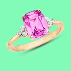 Did you know Sapphires come in Pink too? This works b/c I've always hated my birthstones blue color...