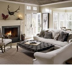 living room...everything except the horns over the fireplace