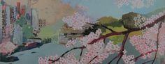 Sakura sanctuary 50cm x 20cm 2015 SOLD acrylics on canvas