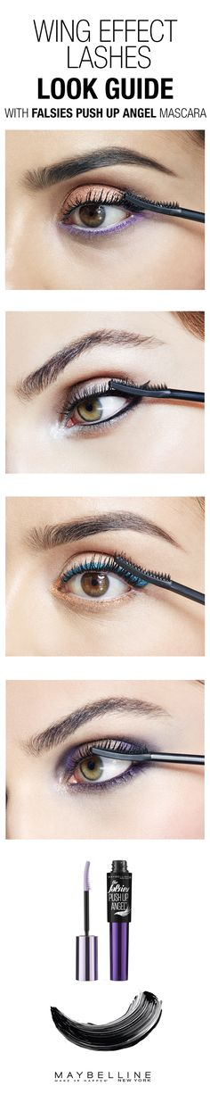Are you looking for long, flared and fierce lashes with a mascara? Set aside your fake lashes, try Falsies Push Up Angel Mascara and flaunt your wing effect lashes. Check out this makeup guide for eye looks for every occasion from date night to work looks.
