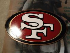 Retro San Francisco 49ers logo. Hand jigged wood sign. Hand ...