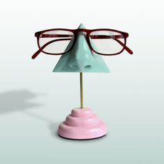 Love this store! Functional pieces of art. How often do you find that? Mint Green Nose Eyeglass Holder by ArtAkimbo on Etsy, $35.00