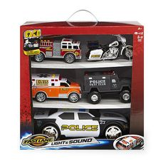 """Fast Lane Light and Sound Emergency Vehicle Gift Set - Toys R Us - Toys """"R"""" Us"""