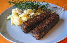 Soijarouhekebakot   Vegaanihaaste Sausage, Steak, Vegan Recipes, Food, Anna, Sausages, Vegane Rezepte, Essen, Steaks