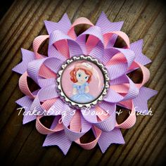 Princess Sofia the First Pinwheel Style by TinkerBugsBowsNSuch, $7.00